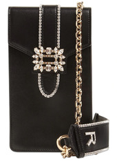 Roger Vivier Embellished Leather Shoulder Bag