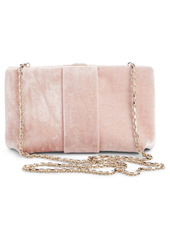 Roger Vivier Broche Velvet Box Clutch