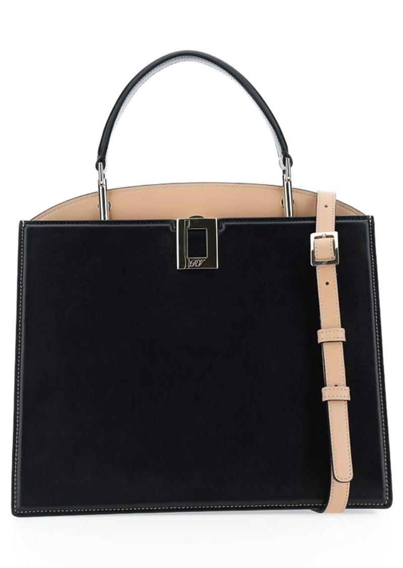 Roger Vivier Medium So Vivier Leather Top Handle Bag