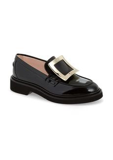 Roger Vivier Viv Rangers Buckle Leather Loafer (Women)