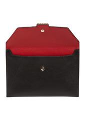Roger Vivier Tres Vivier Embellished Leather Clutch
