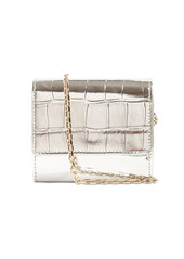 Roger Vivier Trés Vivier Croc Embossed Leather Wallet