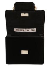 Roger Vivier Trés Vivier Duo Embellished Velvet Bag