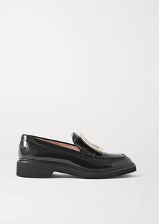 Roger Vivier Viv Ranger Embellished Patent-leather Loafers
