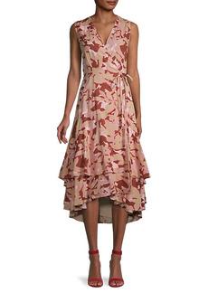 Roller Rabbit Camo Floral-Print Wrap Dress