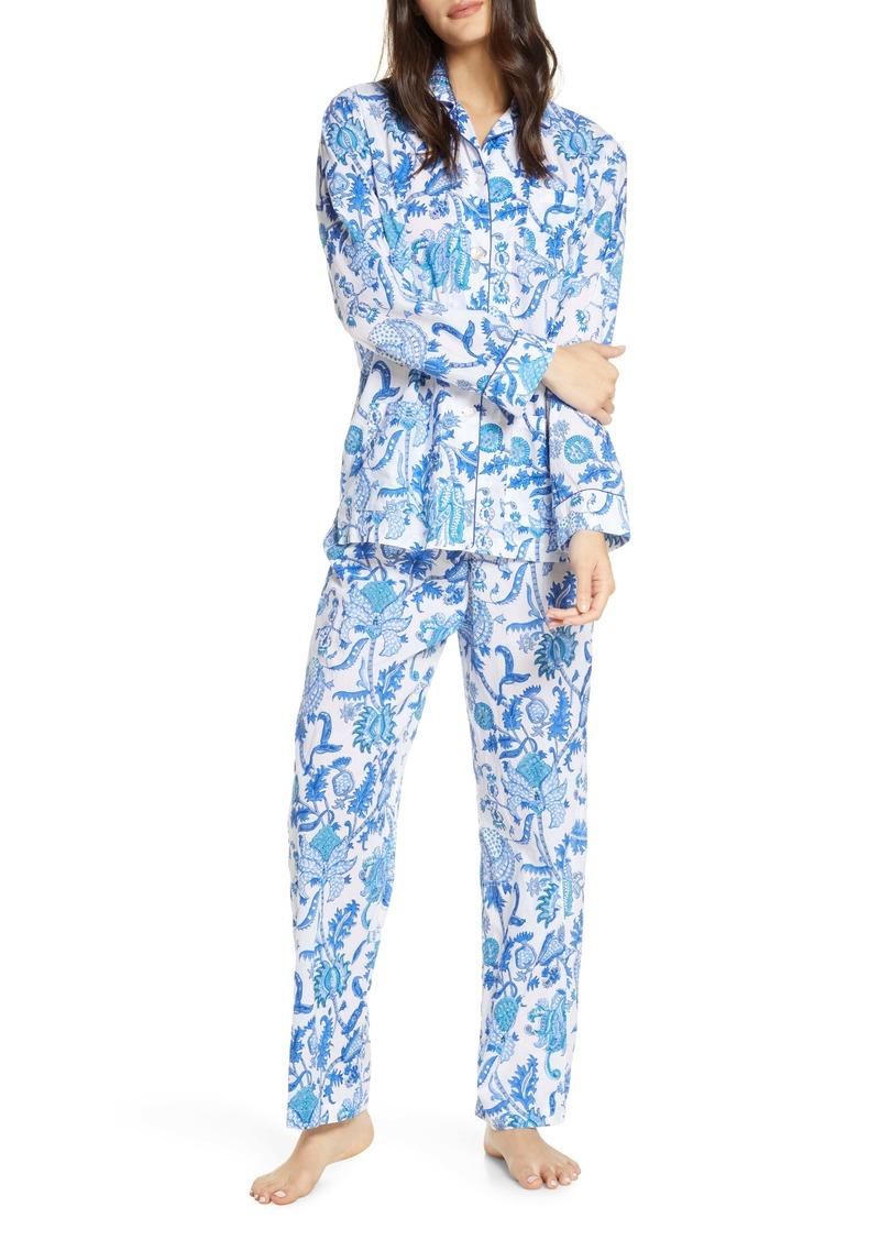 Roller Rabbit Amanda Floral Print Pajamas