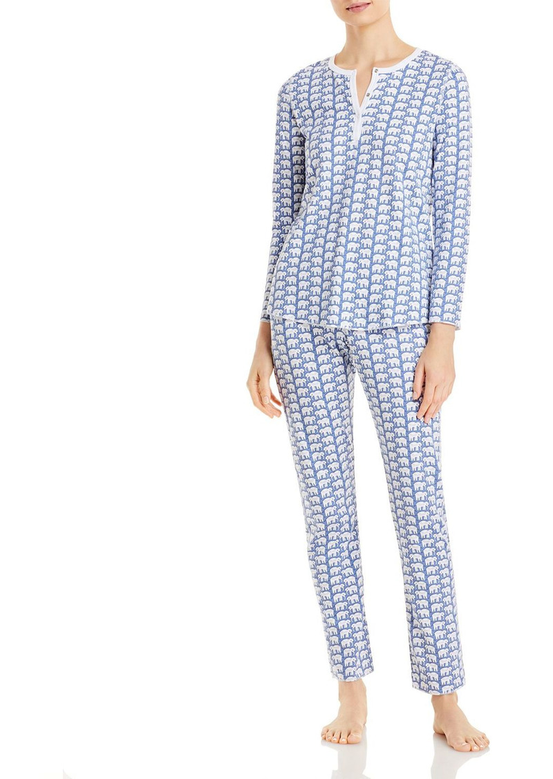 Roller Rabbit Cotton Elephants Print Pajamas Set