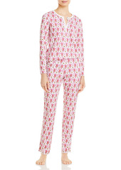 Roller Rabbit Cotton Monkeys Print Pajamas Set