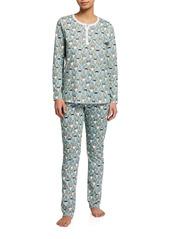Roller Rabbit The Pings Cotton Pajama Set