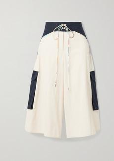 Rosie Assoulin Surf Lace-up Cotton-poplin Culottes