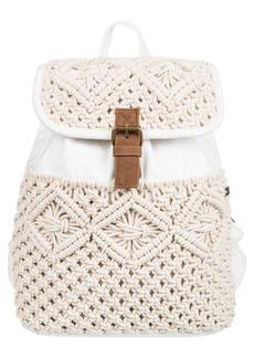 Roxy Blowing Landscape Crochet Backpack