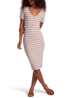 Roxy Bring It On Stripe Rib Dress