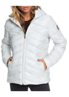 Roxy Coast Road Water Resistant Hooded Puffer Jacket