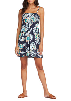 Roxy Daylight Dreams Print Smocked A-Line Dress