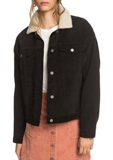 Roxy Good Fortune Fleece Trim Cord Jacket