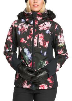 Roxy Jet Ski Waterproof Jacket with Removable Faux Fur Trim