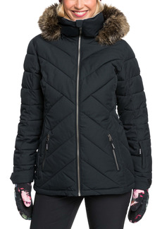 Roxy Quinn Waterproof Coat with Removable Faux Fur Trim