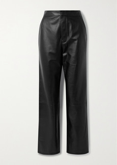 RtA Manon Leather Wide-leg Pants