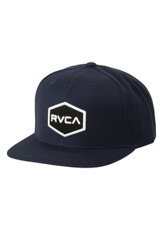 Men's Rvca Commonwealth Snapback Baseball Cap - Black