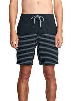 Men's Rvca Current Stripe Water Repellent Board Shorts