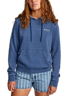 Rvca Printed Classic Hooded Fleece Sweatshirt