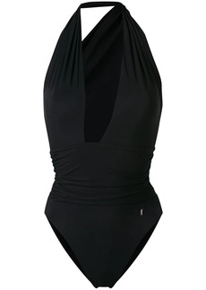 Saint Laurent plunging neck swimsuit