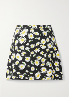 Saint Laurent Floral-print Crepe Mini Skirt