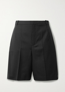 Saint Laurent Herringbone Wool Shorts