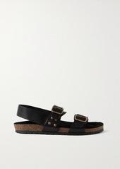 Saint Laurent Jam Leather Sandals