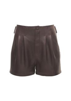 Saint Laurent Leather Mini Shorts