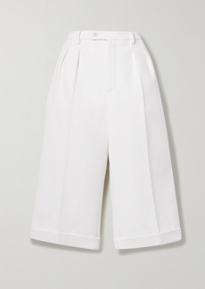 Saint Laurent Pleated Wool And Cashmere-blend Shorts
