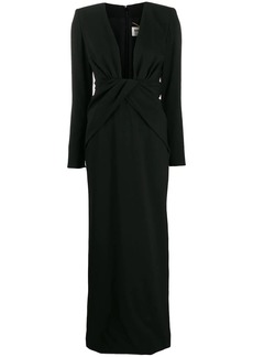 Saint Laurent plunging evening dress