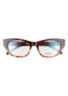 Saint Laurent 52mm Cat Eye Optical Glasses