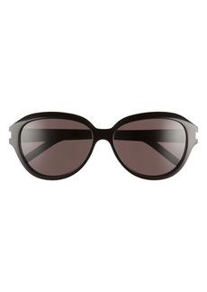 Saint Laurent 58mm Oval Sunglasses