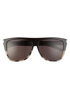 Saint Laurent 59mm Flat Top Sunglasses
