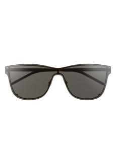 Saint Laurent 99mm Flat Front Shield Sunglasses