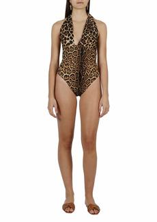 Saint Laurent Animalier One Piece Swimsuit