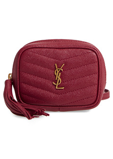 Saint Laurent Baby Lou Quilted Leather Micro Crossbody Bag