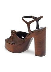 Saint Laurent Bianca Genuine Python Platform Sandal (Women)