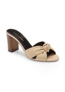 Saint Laurent Bianca Knot Slip-On Sandal (Women)