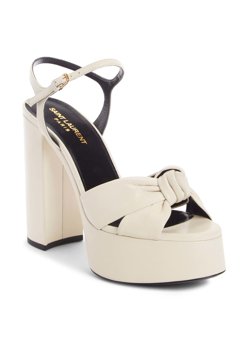 Saint Laurent Bianca Strappy Platform Sandal (Women)