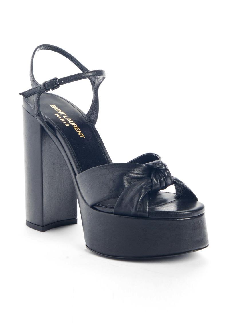 Saint Laurent Bianca Ankle Strap Platform Sandal (Women)
