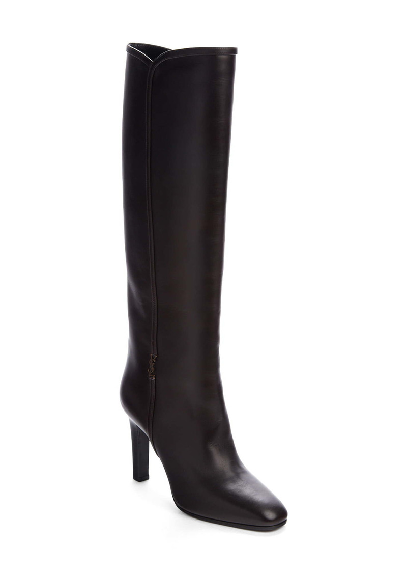Saint Laurent Blu Knee High Boot (Women)