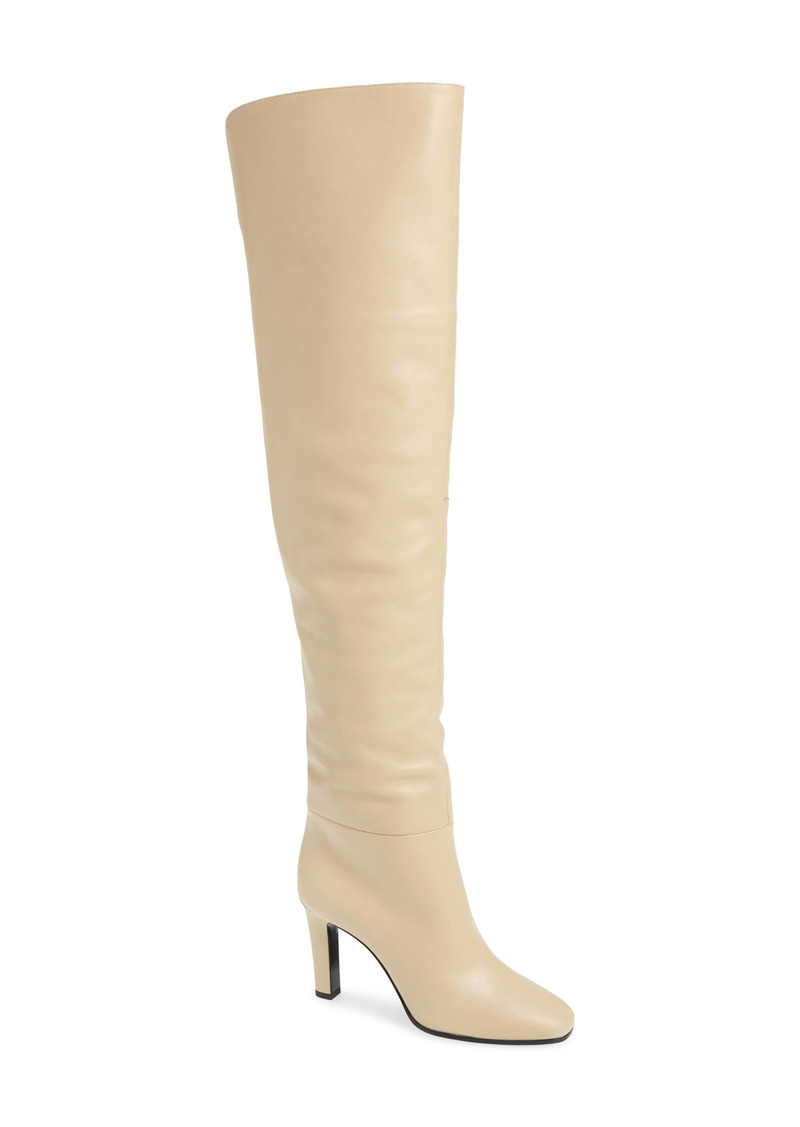 Saint Laurent Blu Over the Knee Boot (Women)