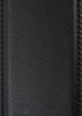 Saint Laurent Cabochon Patent Calfskin Leather Belt