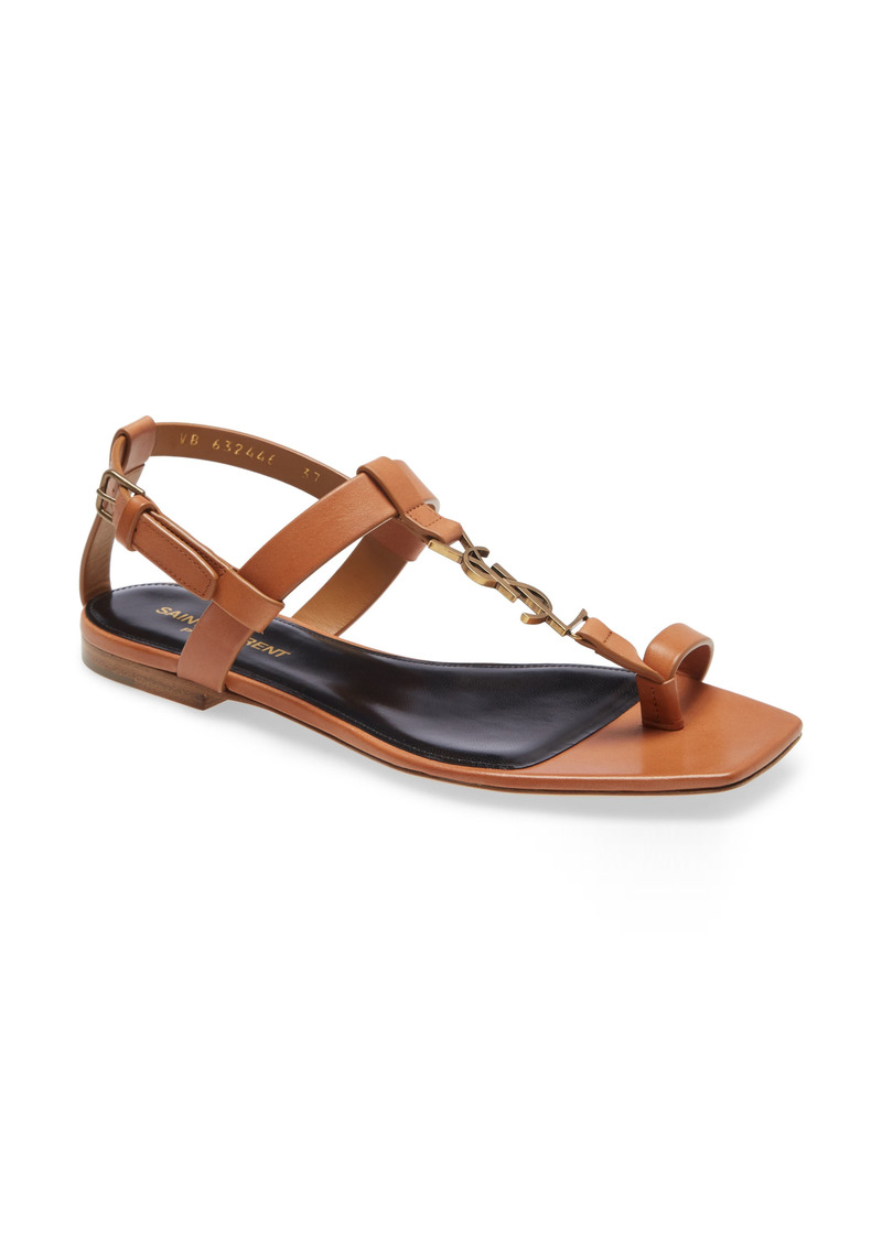 Saint Laurent Cassandra Logo Toe Ring Sandal (Women)