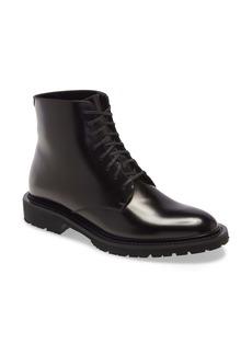 Saint Laurent Cesna Lace-Up Loafer Boot (Women)
