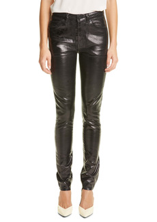 Saint Laurent Coated Skinny Jeans (Vinyle Shiny Black)