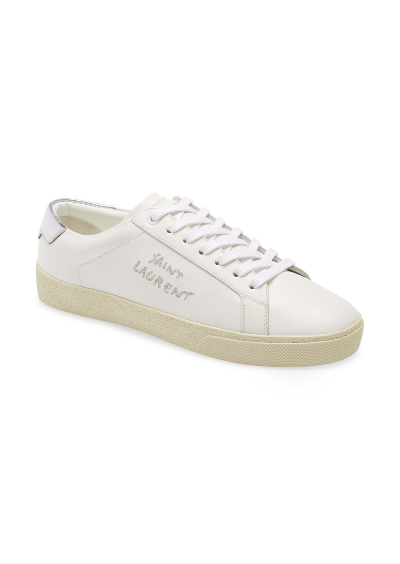 Saint Laurent Court Classic SL/06 Logo Low Top Sneaker (Women)