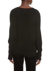 Saint Laurent Distressed Cashmere Sweater